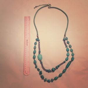 Chico's Faux Turquoise Necklace-long